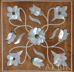 Embutido de diseño sirio con nácar y abulón en nogal. Mosaic Crafts, Mosaic Art, Mosaics, Decoupage Art, Marquetry, Handicraft, Sculpture Art, Wood Crafts, Antique Jewelry