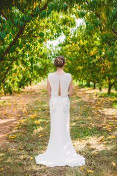 Jenny Packham dress: http://www.stylemepretty.com/2014/09/10/alabama-fall-orchard-wedding/   Photography: Mary Margaret Smith - http://www.marymargaretsmith.com/