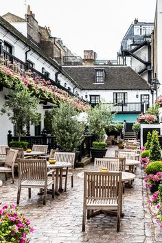 The Stafford hotel courtyard in St James's, London