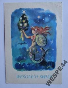 SZANCER WESOLYCH SWIAT 12985 Christmas Shadow Boxes, Polish Christmas, Great Paintings, Old Postcards, Vintage Christmas Cards, Poland, Illustrators, Christmas Decorations, Create