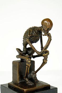Skelett Kunst Statue der Denker Bronzeskulptur von YourBronze