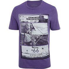 Purple Arizona city print t-shirt £16.00