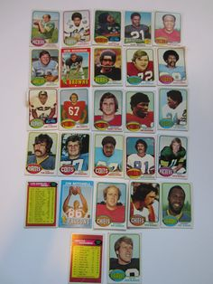 26 Vintage 1970s Football Cards by LifeInABungalow on Etsy