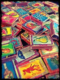 Mexican Loteria Matchbox Retablo Shrines Mexican by funkyeggart, $75.00