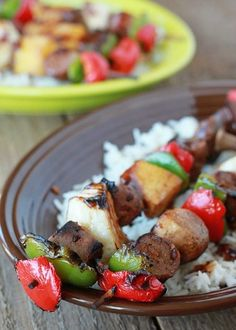 Hawaiian Teriyaki Shish Kabobs Two Ways from Kitchen Treaty & 30 Labor Day Recipes