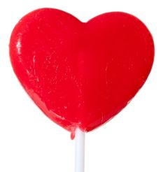 Red Heart Lollipops - Pink Frosting Party Favours