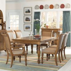 Have to have it. American Drew Grand Isle 7 piece Rectangle Dining Set - $3000 @hayneedle