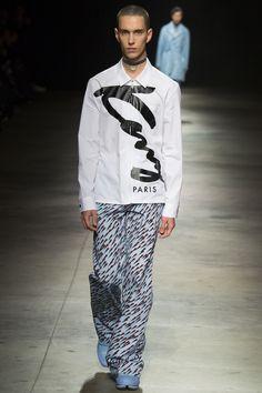 zip up shirt | Kenzo Fall 2016 Menswear Fashion Show