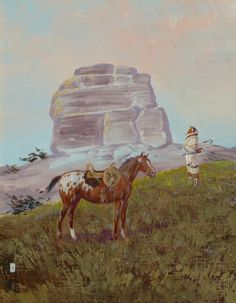 Blackfeet Country by Ace Powell ace powell, oil, kp