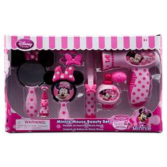 Minnie Mouse Beauty Set since she loves playing with mom's stuff so much