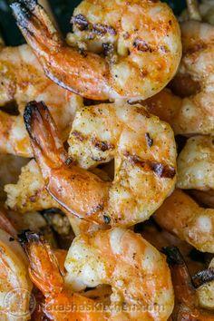 (Irresistibly delicious) Grilled Garlic Cajun Shrimp Skewers   NatashasKitchen.com