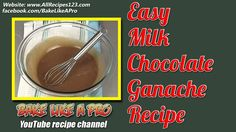 Easy Milk Chocolate Ganache Recipe By BakeLikeAPro ★► OPEN ME For more detailed info about this recipe ! In this video, I'll show you how easy it is to make . Milk Chocolate Ganache, Best Food Ever, Let Them Eat Cake, Chocolate Recipes, Ganache Recipe, My Recipes, Food Videos, Food To Make, Sweet Treats