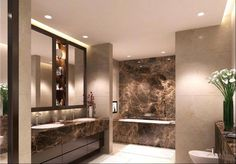 5 bedroom flat for sale in Apartment Henry Moore Court, Manresa Road, Chelsea, London, - Rightmove. Dark Wood Bathroom, Modern Bathroom, Dream Bathrooms, Beautiful Bathrooms, Toilette Design, Bathroom Design Inspiration, Bathroom Design Luxury, Luxury Homes Interior, New Homes For Sale