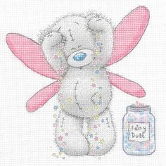 With a sprinkle of magic, pastel pops of colour and a large dash of cuteness, this Tatty Ted Fairy Dust Printed cross stitch kit is sure to go down a treat with all fans of the Me To You series.