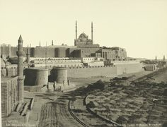 old vintage photos of egypt 1870-1875 (17) Cairo: The Citadel and Mosque Mehemet Ali [Muhammad Ali Basha]