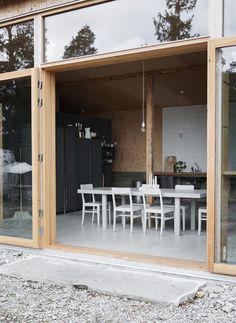 Old buildings converted into a fab Summer house doesn't get more inspiring than this one which was initially a military garage. House In The Woods, My House, Architecture Details, Interior Architecture, Converted Garage, Old Garage, Turbulence Deco, Tiny House On Wheels, Old Buildings