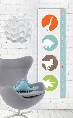 Raaawr  Dinosaurs Modern Growth/ Height Chart by giraffesnstuff, $35.00