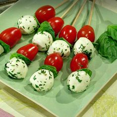 Caprese on a Stick - All the flavors and colors of Italy at your fingertips!
