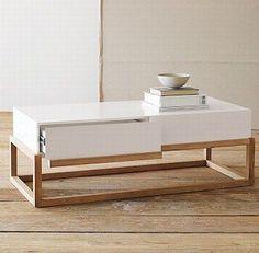 Resultado de imagen para white wooden coffee table