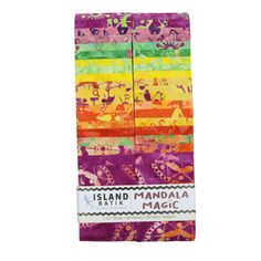 "Island Batik Fabrics Mandala Magic Mandala Magic Strip Pack (2.5"" Strip Pack)"