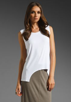 REVOLVEclothing.com HEATHER Rib Cut Out Tank in White- Free Shipping!