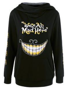 We Are All Mad Here Hoodie - BLACK XL
