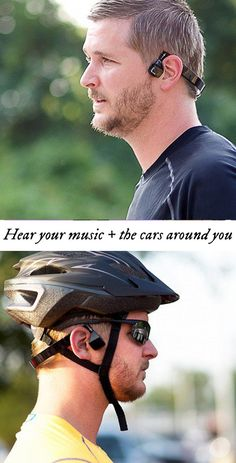 Exercise, work, or talk on the phone while leaving your ears free to hear ambient sound. This head-worn audio system sends sound through vibrations in your cheekbones, instead of directly into your ear. Comfortable and sweat-resistant, too.