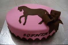 horse cake. Perfect cake for my cowgirl
