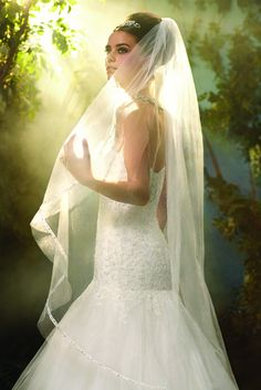 Princess Cinderella wedding veil, from the Disney's Fairy Tale Weddings by Alfred Angelo collection - Style 107 #wedding #veil