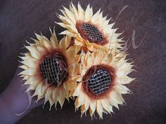 crafts for kids: sunflowers of sweets - crafts ideas - crafts for kids