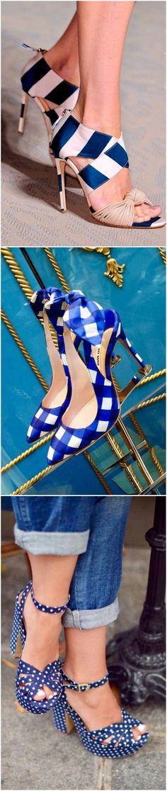 Gorgeously designer blue heels #trending