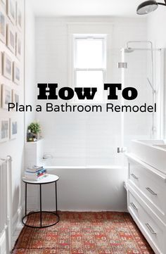 So you're thinking of remodeling one of the most necessary rooms in your home - not an easy task to take on! Luckily, there are ways you can prepare to take the pain out of a bathroom remodel. Here are just a few to get you started: remodel Bathroom Renos, Bathroom Renovations, Home Renovation, Home Remodeling, Bathroom Ideas, Bathroom Showers, Bathroom Makeovers, Simple Bathroom, Bathroom Designs