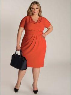 Ippolita Plus Size Dress in Papaya - Work Dresses by IGIGI