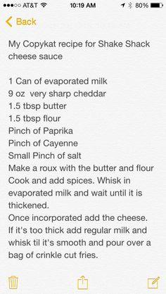 Copykat Shake Shack cheese sauce