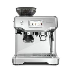 Versatile and easy to use, the Breville Barista Touch Espresso Coffee Machine has an inbuilt grinder, steam wand and a smart touchscreen letting you make artisanal-quality coffee at the comfort of your home. Breville Espresso Machine, Machine A Cafe Expresso, Espresso Machine Reviews, Automatic Espresso Machine, Espresso Coffee Machine, Espresso Maker, Coffee Maker, Coffee Shop, Coffee Lovers