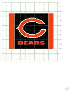 Chicago Bears afghan pattern