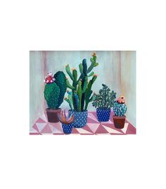 "The Emily Henderson Way To Arrange Two Stunning Gallery  Walls via @MyDomaine ""Cactus Garden"" by Art and People ($25)"