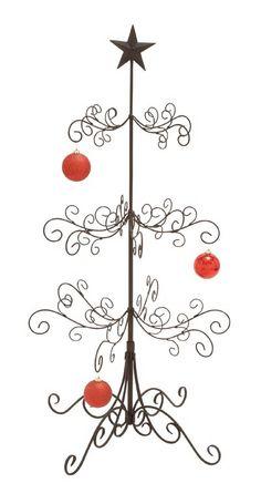 Amazon.com - Silver Wire Ornament Tree Display by The Bradford ...