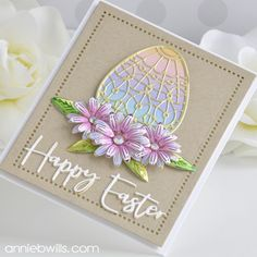 Cool Cards, Diy Cards, Poinsettia Cards, Hand Stamped Cards, Egg Designs, Easter Colors, Flower Center, Flower Petals, Spring Collection
