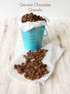 Clean Eating German Chocolate Granola
