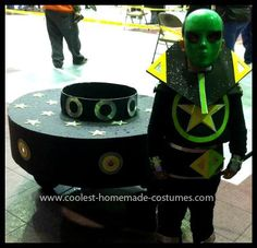 Homemade Alien Costume Ideas: Jayden's Homemade Alien and UFO Costume is a ride-on UFO that was handmade from a variety of different materials...
