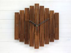Romb II wall clock wooden wall clock wall clock with by Paladim