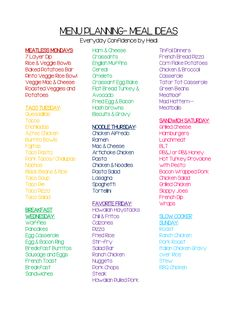 Monthly Meal Planning, Family Meal Planning, Family Meals, Group Meals, Monthly Menu, Budget Meal Planning, Meal Plan For Family, Weekly Meal Plans, Weekly Dinner Plan