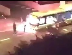 Still At It In The EU -- #Muslims Firebomb A Bus In Paris. A gang of #Muslim migrants in #Paris allegedly ambushed and burned down a passenger bus in the Saint-Denis district around 1 AM on Thursday.  The masked men set up a road block, threatened the bus driver, smashed the windows and set it the bus on fire.