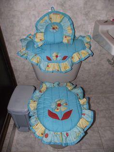 Juego de baño en tela.  Juegos de baño  Pinterest  Tela