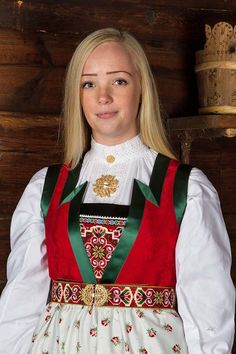 fanabunad grønn - Google-søk Folk Costume, Costumes, Going Out Of Business, Norway, Scandinavian, Textiles, Traditional, Sweden, Folk Art