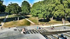 Parc de Bercy France Landscape, Sidewalk, Side Walkway, Walkway, Walkways, Pavement