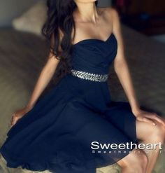 Navy blue A-line Sweetheart Neckline Short Prom Dresses,Homecoming Dresses from Sweetheart Girl