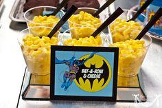 Vintage Batman Super Hero Party - BAt-A-roni and Cheese, Batmobile Burgers, Mr Freeze pops, Joker Juice etc..