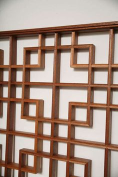 View this item and discover similar for sale at - A reproduction of a Classic Chinese lattice panel in mahogany. A beautiful wall decoration. Asian Wall Decor, Asian Home Decor, Home Window Grill Design, Japanese Bathroom, Chinese Bathroom, Oriental Restaurant, Lattice Design, Chinese Garden, Inspiration Wall